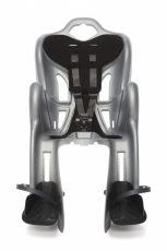 Detská sedačka na bycikel zadná Bellelli B-One Clamp do 22 kg, farba silver
