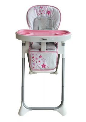 Mama Kiddies ProComfort NewLine multifunkčná jedálenská stolička ružová so vzorom hviezdičiek + Darček
