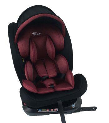 Detská autosedačka MamaKiddies Rotary  Protect GT s 360° otáčaním (0-36kg) s ISOFIX systémom, farba čiervená +darček clona proti slnku