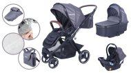 Detský kombinovaný kočík Mama Kiddies Luxury 3 v 1 v sivej farbe + darček nánožník