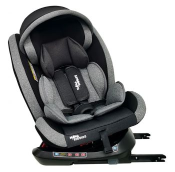 Detská autosedačka Mama Kiddies Rotary  Protect GT s 360° otáčaním (0-36kg) s ISOFIX systémom, farba sivá + darček clona proti slnku