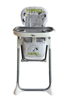 Mama Kiddies ProComfort NewLine multifunkčná jedálenská stolička sivá so vzorom psík + Darček