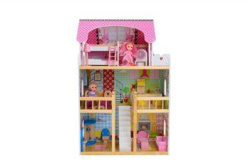 Drevený domček FULL EXTRA s množstvom doplnkov s 2 darčekovými bábikami