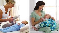 Kvalitný vankúš na dojčenie v tvare podkovy - s výplňou (vo viacerých farebných prevedeniach)