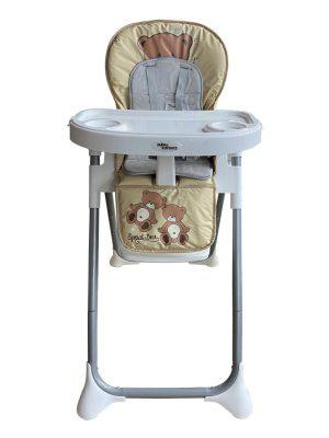 Mama Kiddies ProComfort NewLine multifunkčná jedálenská stolička béžová so vzorom macík + Darček