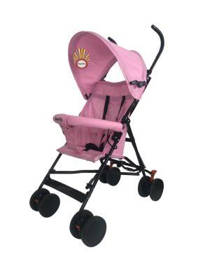 Smartly športový kočík skladací na dáždnik- ružový