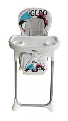 Mama Kiddies ProComfort NewLine multifunkčná jedálenská stolička biela so vzorom tučniak + Darček