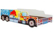 Mama Kiddies 160x80-cm detská posteľ s dizajnom Monster Truck - s matracom