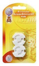 Baby Bruin ochranný kryt do elektrickej zásuvky, nebráni používaniu zásuvky - 4 ks
