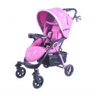 Detský športový kočík Mama Kiddies Light4 Go, farba pink + Nánožník + Darček