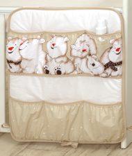 MamaKiddies Baby Bear vrecko bledohnedé s ľadovím medvedíkom