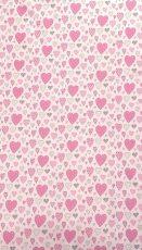 Mama Kiddies Baby Bear 2-dielna posteľná bielizeň v ružovej farbe, so srdiečkovým vzorom