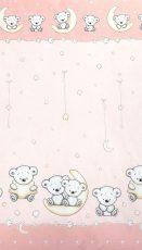 Mama Kiddies Baby Bear 2-dielna posteľná bielizeň pre skôlkárov v ružovej farbe so vzorom macík