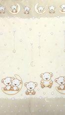 Mama Kiddies Baby Bear 2-dielna posteľná bielizeň pre skôlkárov v béžovej farbe so vzorom macík