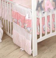 MamaKiddies Baby Bear vrecko s ružovým vzorom