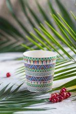 Ethnic Festive bambus hrnček