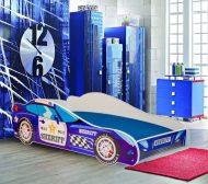 MamaKiddies 160x80-cm  detská posteľ  s dizajnom auta- so vzorom Sheriff