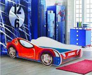 MamaKiddies 160x80-cm detská posteľ s dizajnom Spider-man- s matracom