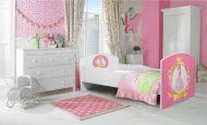 MamaKiddies 140x70-cm detská posteľ s dizajnom princezná a s matracom