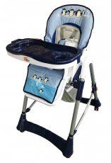 MamaKiddies ProComfort multifunkčná stolička na kŕmenie modrá  s vzorom tučniak + Darček