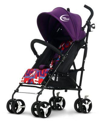 MamaKiddies Mignon full extra športový kočík skladateľný na dáždnik vo fialovej farbe + darček
