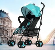 Mama Kiddies Mignon full extra športový kočík skladateľný na dáždnik v tyrkysovej farbe + darček