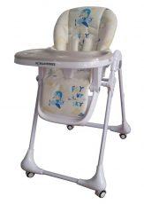 Detská multifunkčná jedálenská stolička Mama Kiddies Ariel béžová so vzorom lietajúceho zajačika