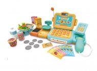 Mama Kiddies 24-dielna FULL EXTRA hračkárska pokladňa s množstvom doplnkov v oranžovo-tyrkysovej farbe