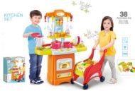 38 kusová MamaKiddies HomeChef Deluxe set detská kuchynka - v oranžovej farbe