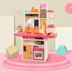 65 kusová Mama Kiddies KitchenStar set detská kuchynka - v ružovej farbe