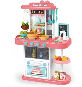 43 kusová Mama Kiddies KitchenStar set detská kuchynka - v ružovej farbe