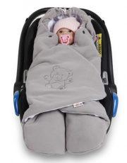 Baby Nellys univerzálna detská zavinovačka, fusak polar / bio bavlna - sivá