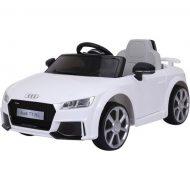 Audi TT RS Roadster elektrické autíčko s diaľkovým ovládaním biele ( s dvojitým motorom akumulátorom)