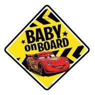 Tabuľka do auta s prísavkou Dieťa v aute - BABY ON BOARD - Autá