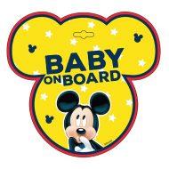 Tabuľka do auta s prísavkou Dieťa v aute - BABY ON BOARD - Mickey