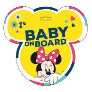 Tabuľka do auta s prísavkou Dieťa v aute - BABY ON BOARD - Minnie