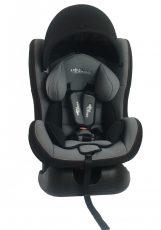 Detská bezpečnostná autosedačka Mama Kiddies Baby (0-18 kg), farba sivá +darček clona proti slnku