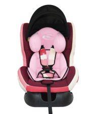 Detská bezpečnostná autosedačka MamaKiddies Baby (0-18 kg), farba pink +darček clona proti slnku