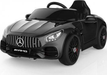 Elektrický športový automobil Mercedes-Benz AMG GT s diaľkovým ovládaním v čiernej farbe