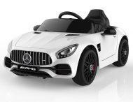 Elektrický športový automobil Mercedes-Benz AMG GT s diaľkovým ovládaním v bielej farbe