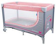 Baby Mix pink fix cestovná postieľka s macíkmi