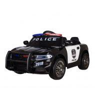 Elektrické policajné auto s diaľkovým ovládaním v čiernej farbe