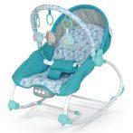 Baby Mix prenosná vybrujúca a hracia detská elektrická hojdačka tyrkysovo-zelená