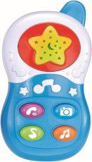 Baby Mix hudobný telefón v modrej farbe