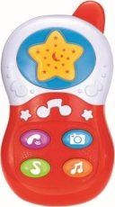 Baby Mix hudobný telefón v červenej farbe