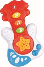 Baby Mix hudobná gitara v červenej farbe