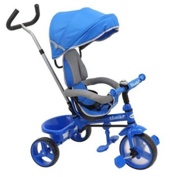 Baby Mix trojkolka s vodiacou tyčou Ecotrike modrá