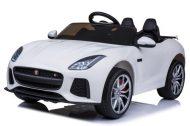 Jaguár limited edition dvoj sedadlové elektrické auto na diaľkové ovládanie v bielej farbe