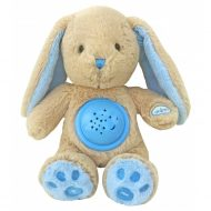 Baby Mix plyšový zajačik s projektorom - modrý