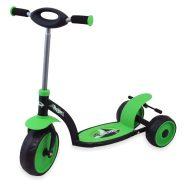 Trojkolesový roller v zelenej farbe